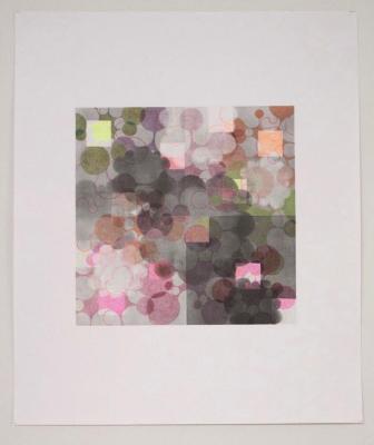 "Beth Caspar, Smoke and Mirrors #2, graphite on paper, 14"" x 17"", 2007"