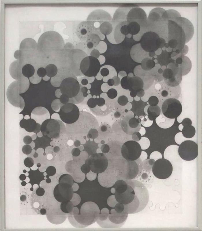"""Beth Caspar, Do-si-do #13, graphite on paper, 24"""" x 23"""", 2004"""