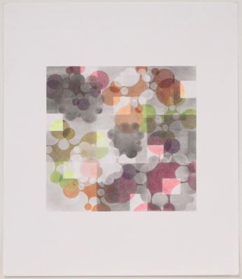 "Beth Caspar, Smoke and Mirrors #1, graphite on paper, 14"" x 17"", 2007"