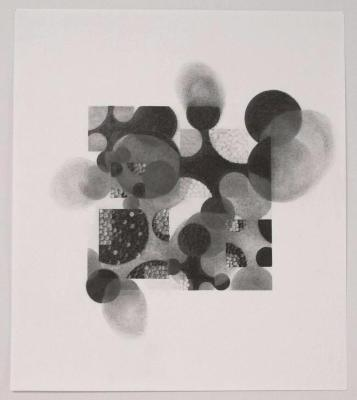 "Beth Caspar, Circling the Square #9, graphite on paper, 16.5"" x 14.5"", 2003"