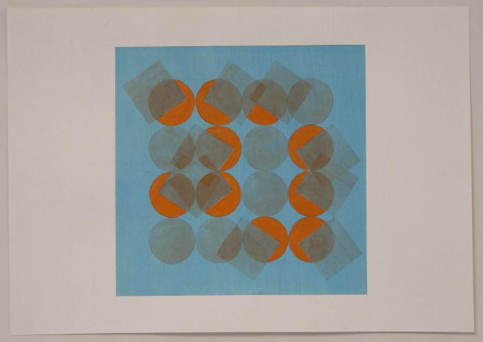 "Beth Caspar, Some Fall Down OB2 Study, acrylic on paper, 8.75"" x 12.5"", 2010"