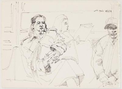 Subway Riders: Three People