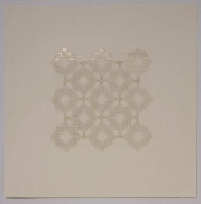 Marietta Hoferer, Small Crystal #8, tape and pencil on paper, 2005