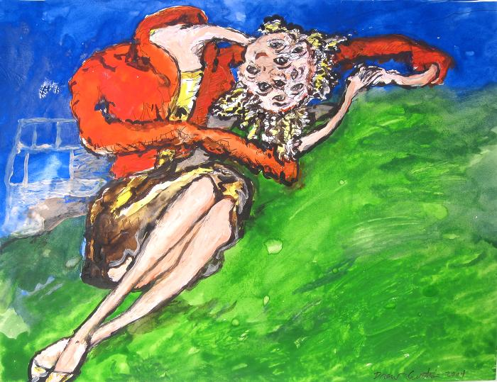 Drew Curtis, Woman in Red Jacket