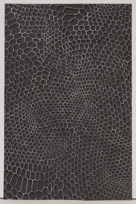 "Michael Kukla, Grid Auvillar #3, acrylic on paper, 28"" x 20"", 2013"