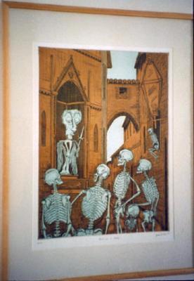 Bushra Chaudry, John D. Gall and Matt Myers, Three Printmakers