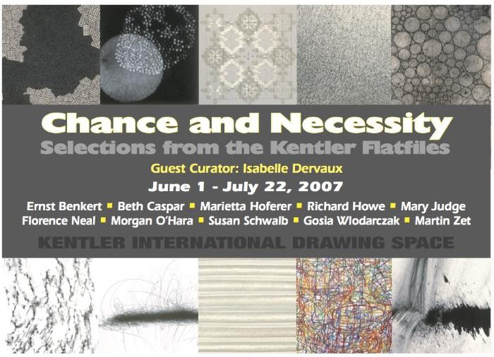 Chance and Necessity: Selections from the Kentler Flatfiles