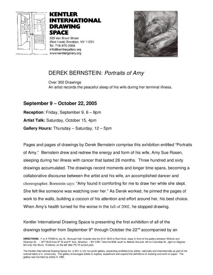 Derek Bernstein, Portraits of Amy