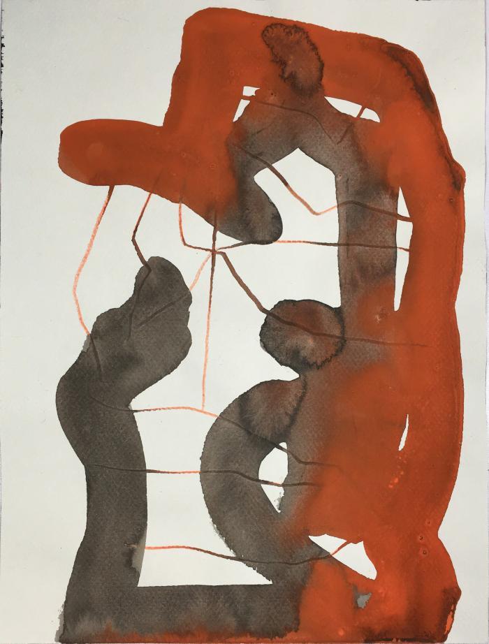 """Tulsa,""gouache on paper, 12"" x 9"", 2012"