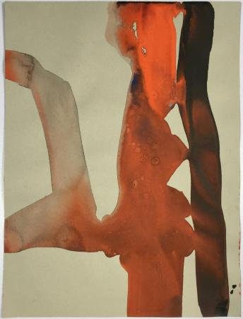 """Farmer,"" gouache on paper, 12"" x 9"", 2016"