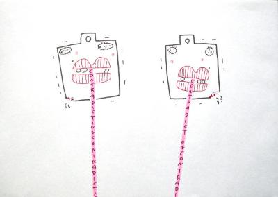 K. Saito, Foolish Drawing, Jan. 21
