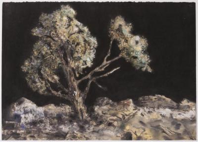 """Herb Reichert, Big Tree, pastel on paper 22"""" x 30"""", 2006"""