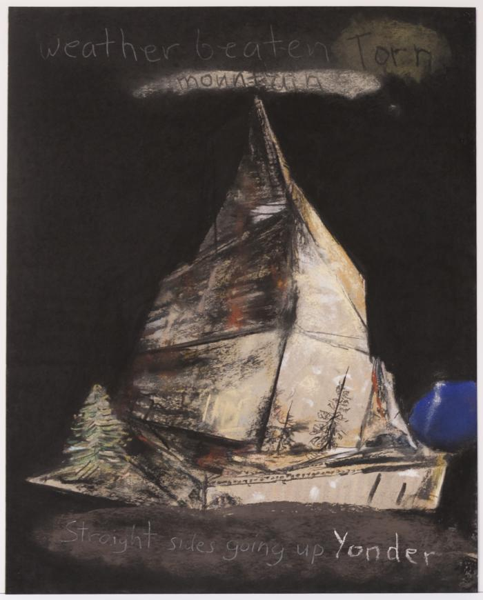"Herb Reichert, Yonder Mountain, pastel on paper, 22"" x 17"", 2006"
