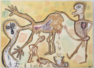 "Orlando Richards, Circle, watercolor on paper, 22.5"" x 30"", 2005"