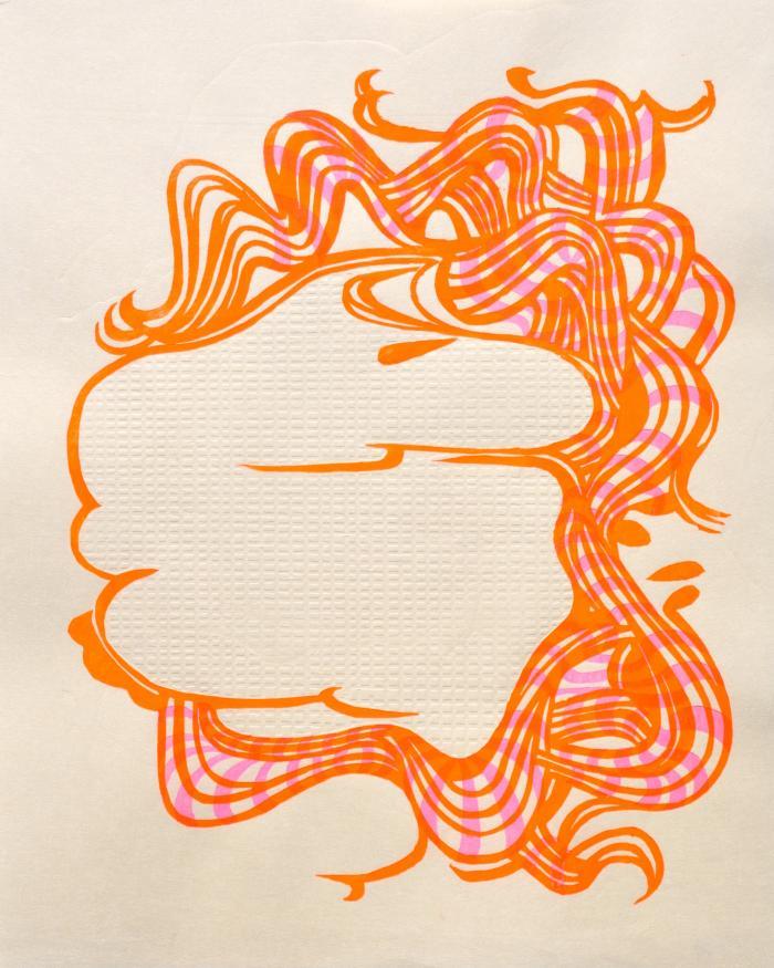 Mia O, Orange Landscape