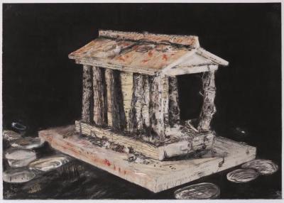 "Herb Reichert, Roman Temple, pastel on paper, 22"" x 30"", 2006"