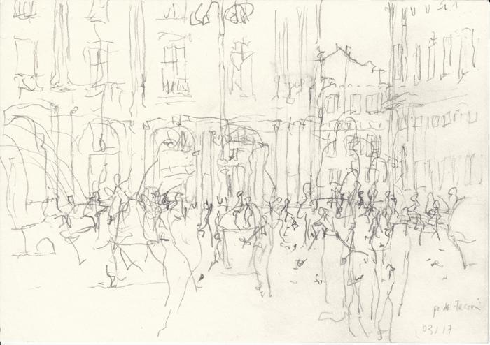 Doris Schlaepfer, Piazza de Ferrari