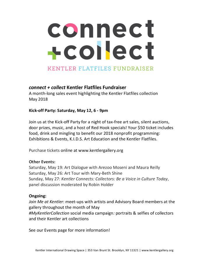 connect + collect: Kentler Flatfiles Fundraiser Exhibition