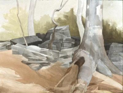 Mariella Bisson, Weir Farm, Rocks & Trees