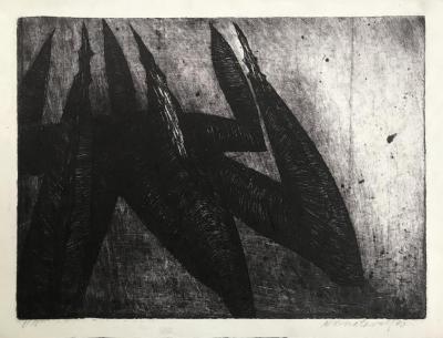 """Jiří Kornatovský, Untitled, Etching, edition: 8/15, 10 1/4"""" x 13 3/4"""", 1990"""
