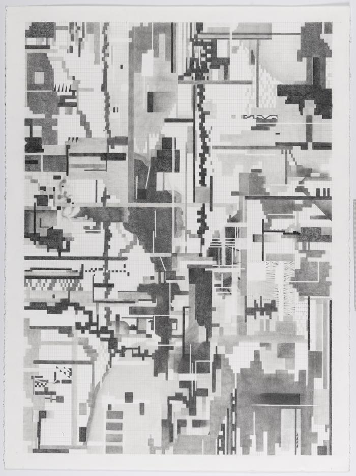 Barb Bondy, DeepSeeing IV, 2018, graphite on paper, 30 X 22.5 inches