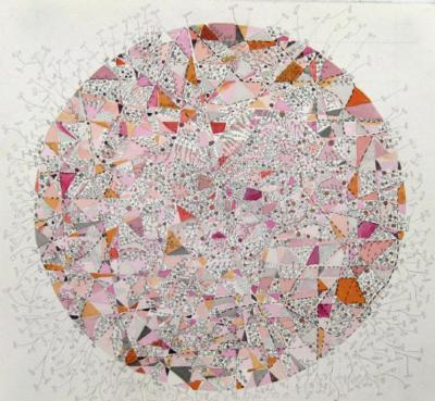 Pink Fragmented Grid