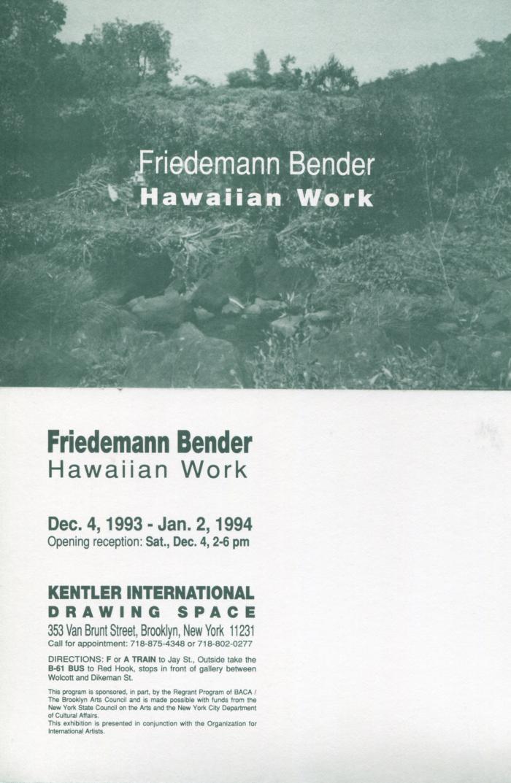 Friedemann Bender, Hawaiian Work
