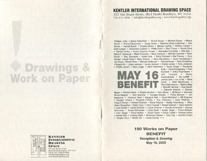 1st Annual  100 Works on Paper Benefit