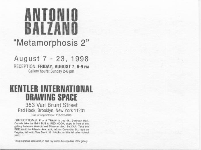 "Antonio Balzano, ""Metamorphosis 2"""