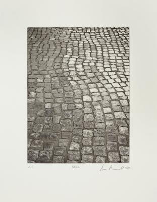 "Ann Aspinwall, ""Berlin,"" Open-bite etching and aquatint, Image: 9"" x 7"", sheet: 15"" x 11"", 2009"