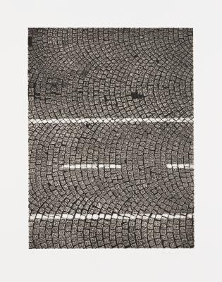 "Ann Aspinwall, ""Roma II"" Collagraph, Image: 20"" x 15"", sheet: 26 3/4"" x 21 2/8"", 2012"