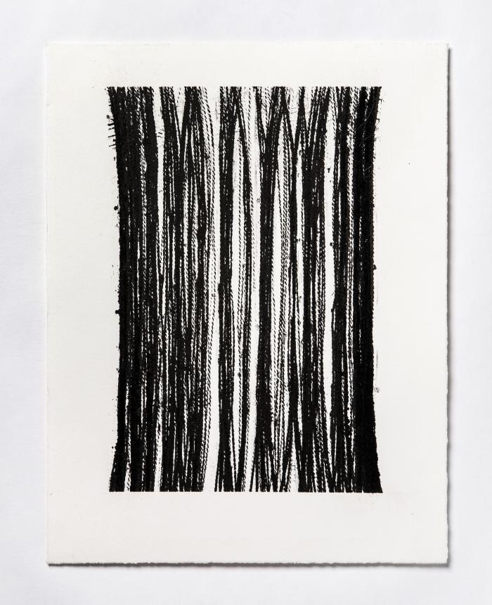 Lynne Tobin, Pillar Series #8, ink on paper, 15 x 11.5 in, 2019 (photo credit: Kenneth Elk)