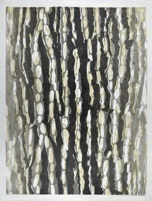 Florence Neal, Pear Tree, mokuhanga, sumi & water-based pigment on washi, edition: 4/8, 2020