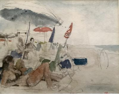"Morgan Taylor, Ocean Ridge, LI, watercolor on paper, 8"" x 11"", 2018"