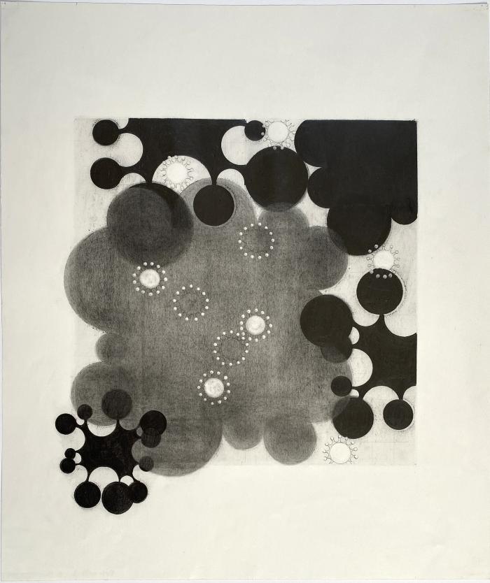 """Beth Caspar, Do-si-do #1, graphite on paper, 13.5"""" x 11.5"""", 2004"""