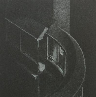 """Phillip Chen, Stone Boat: Juncture, lithograph, 6.125"""" x 6.125"""", 1994"""