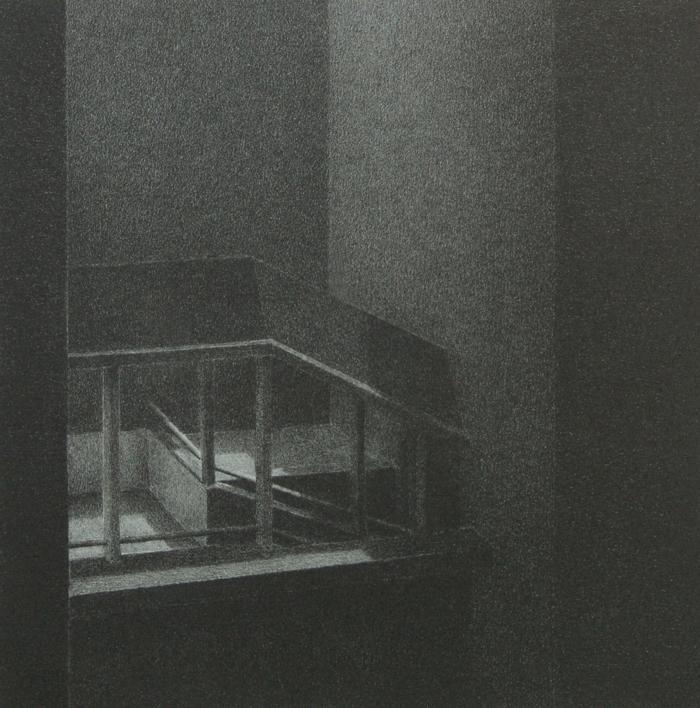 """Phillip Chen, Stone Boat: Relay, lithograph, 6"""" x 6"""", 1994"""