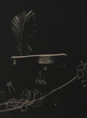 "Phillip Chen, Palm Sunday, etching, 31"" x 23"", 2001"