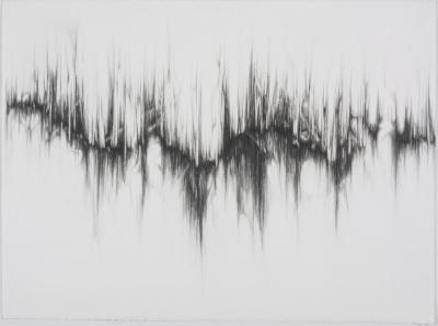 """Dawn Lee, Resonance #4, graphite on paper, 22"""" x 30"""", 2008"""