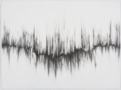 "Dawn Lee, Resonance #6, graphite on paper, 22"" x 30"", 2008"